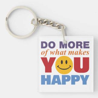 Haga más feliz llavero