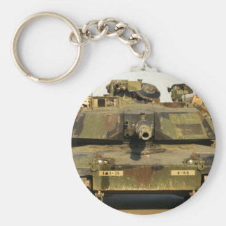 Haga mi día M1A1Abrams MBT Llavero Redondo Tipo Pin