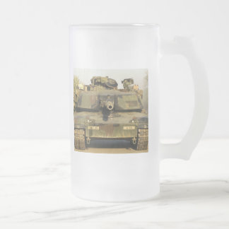 Haga mi día M1A1Abrams MBT Taza Cristal Mate