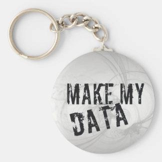 Haga mis datos llavero redondo tipo pin