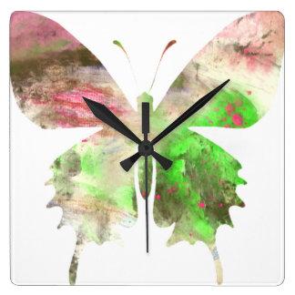 Haga mural de la hora una obra maestra reloj cuadrado