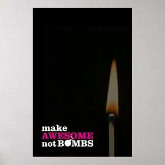 Haga no el poster impresionante de las bombas