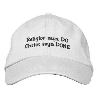 ¿Haga o hecho? casquillo Gorras Bordadas