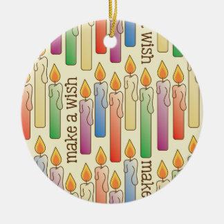 """""""Haga ornamento de las velas del cumpleaños de un Ornato"""