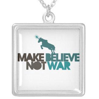 Haga para creer no guerra colgante cuadrado