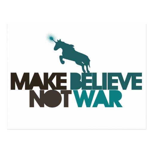 Haga para creer no guerra postales