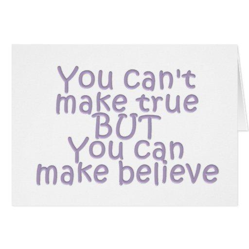 Haga para creer tarjeton