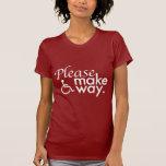 Haga por favor la camiseta de la oscuridad de la