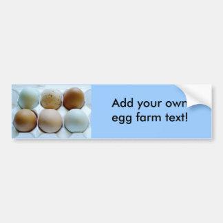 ¡Haga publicidad de su granja libre del huevo de l Pegatina De Parachoque