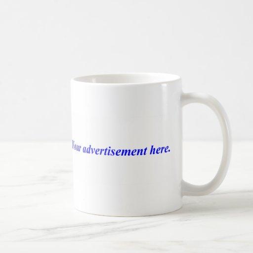 Haga publicidad en esto tazas de café