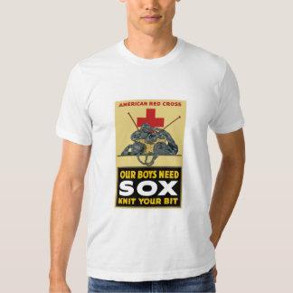 Haga punto su pedazo -- Cruz Roja americana Poleras