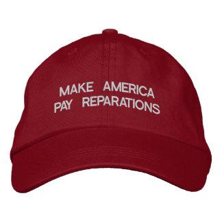 Haga que América paga reparaciones Gorros Bordados