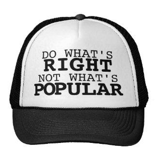 Haga qué correcto, no cuál es popular gorras