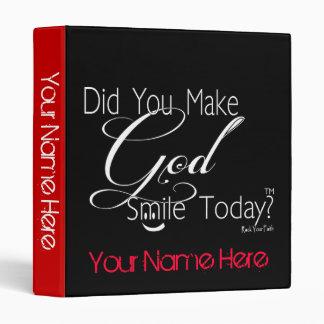 Haga que dios sonríe hoy carpeta cristiana