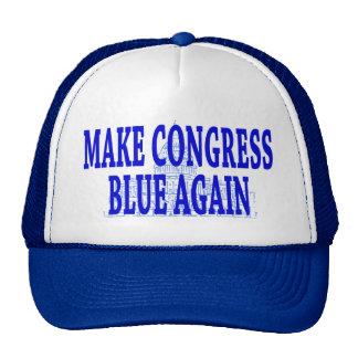 Haga que el azul del congreso otra vez capsula gorras