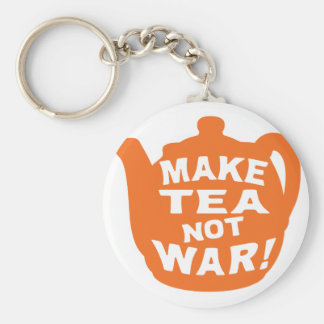 Haga que el té no guerrea v3 llaveros