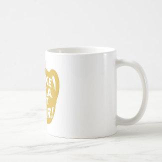 Haga que el té no guerrea v7 taza