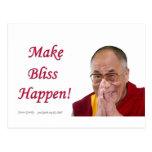 ¡Haga que la dicha sucede! - Dalai Lama Postales