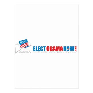 Haga que la historia elige a Obama ahora Tarjetas Postales