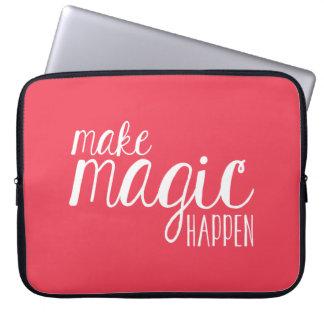 """Haga que la magia sucede el coral 15"""" manga del fundas ordendadores"""
