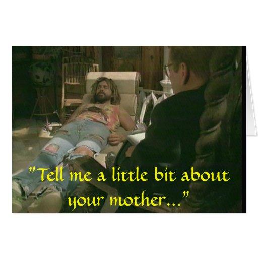 Haga que la mamá se preocupa tarjeta