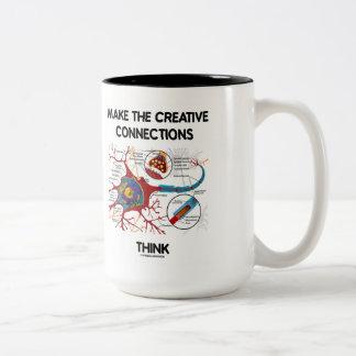 Haga que las conexiones creativas piensan (la neur tazas de café