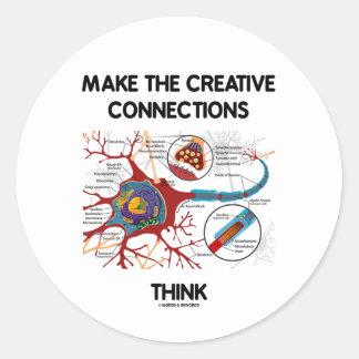 Haga que las conexiones creativas piensan (la etiqueta redonda