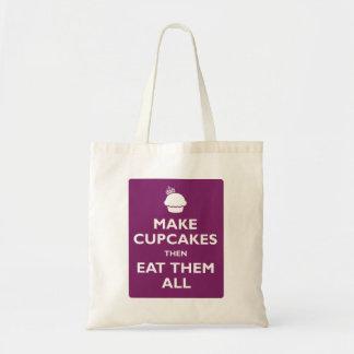 Haga que las magdalenas después las comen todas bolsa tela barata