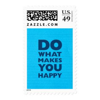 Haga qué le hace el papel azul feliz del cuaderno sellos