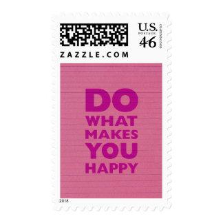 Haga qué le hacen el papel rosado feliz del cuader