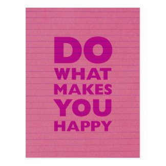 Haga qué le hacen el papel rosado feliz del cuader tarjeta postal