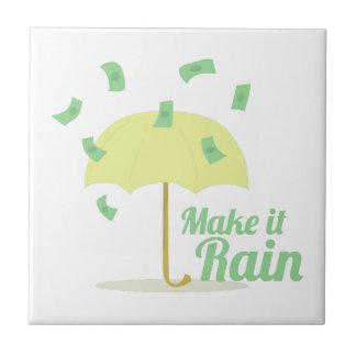 Haga que llueve azulejo cuadrado pequeño