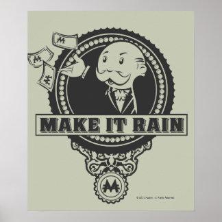 Haga que llueve póster