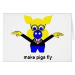 Haga que los cerdos vuelan tarjetas