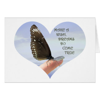 Haga que los sueños de un deseo vienen verdad tarjeta de felicitación