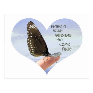 Haga que los sueños de un deseo vienen verdad tarjeta postal