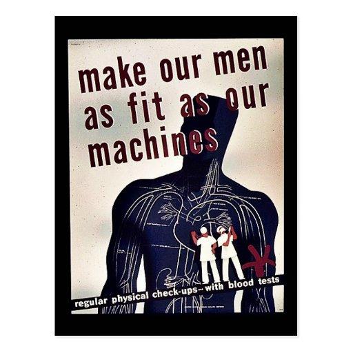Haga que nuestros hombres tan caben como nuestras  postales