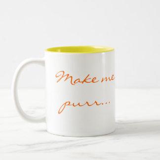 Haga que ronronea… taza de café