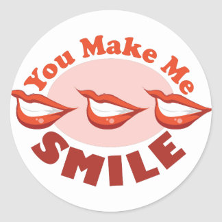 Haga que sonríe pegatina redonda