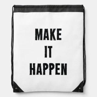 Haga que sucede negro blanco inspirado mochilas