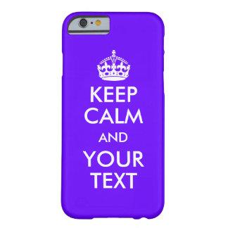 Haga que sus los propios guardan calma funda barely there iPhone 6