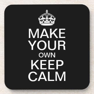 Haga que sus los propios guardan calma y continúan posavasos