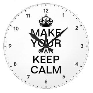 Haga que sus los propios guardan calma y continúan reloj redondo grande