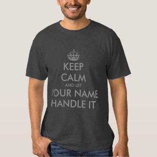 Haga que sus los propios guardan calma y deje la camisas