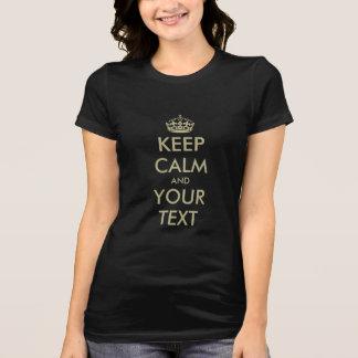 Haga que sus los propios guardan diseño superior camiseta