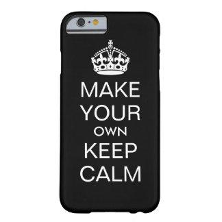 Haga que sus los propios guardan el caso tranquilo funda barely there iPhone 6