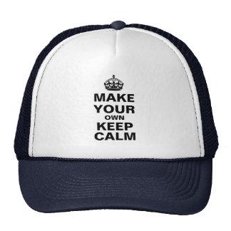 Haga que sus los propios guardan el gorra tranquil