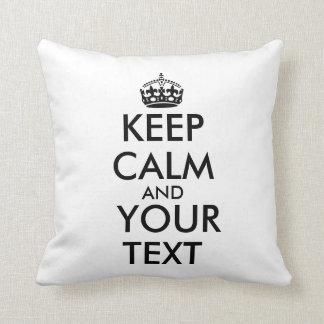 Haga que sus los propios guardan el texto almohada
