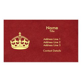 Haga que sus los propios guardan la tarjeta de vis tarjetas de visita