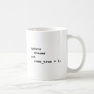 Haga que todos sus sueños vienen verdad taza de café